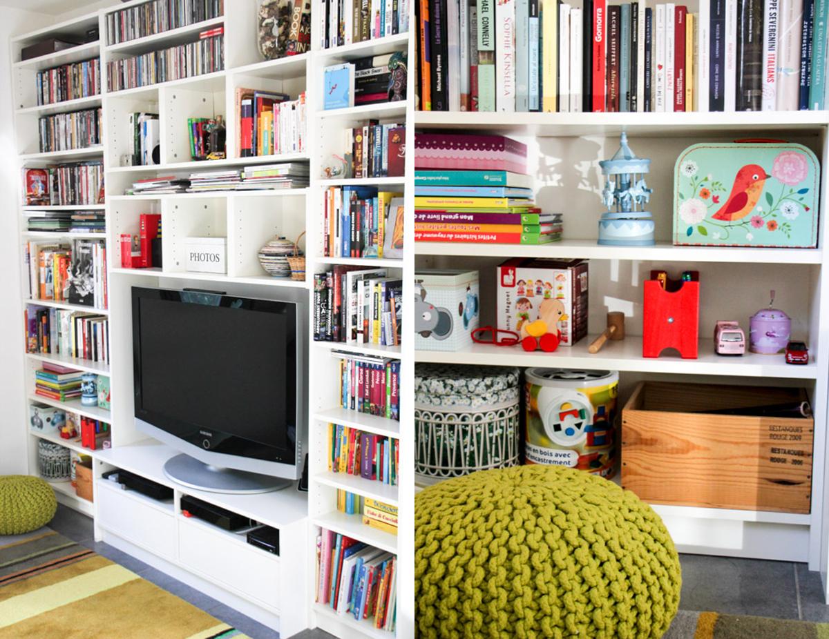 Avant  après : notre bibliothèque meuble télé ikea (# monday deco ...