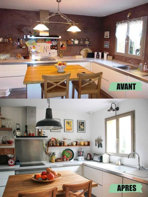 amoremiobello-cuisine-blanche-étagère-bois-avant-apres