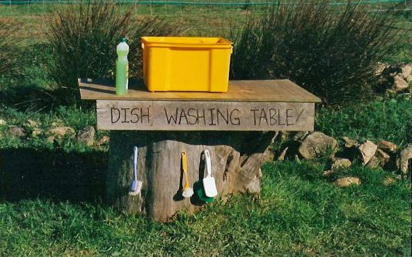 dish washing table