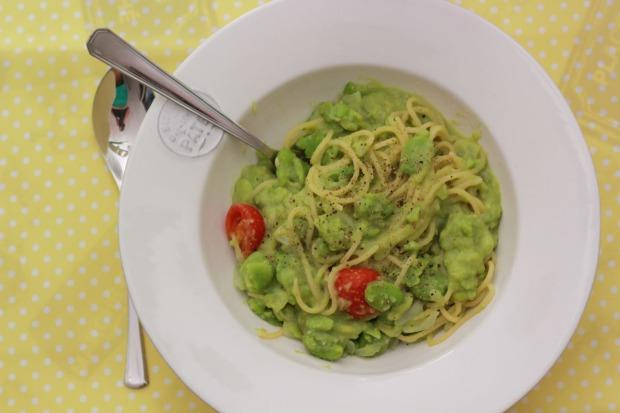 amoremiobello spaghetti alle fave - spaghetti aux fèves-2